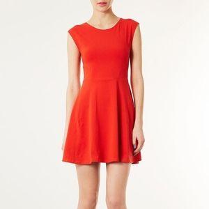 2/$25 - TOPSHOP red / coral skater dress - 6